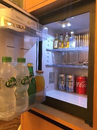 リビエラホテル デラックスツイン 冷蔵庫の中