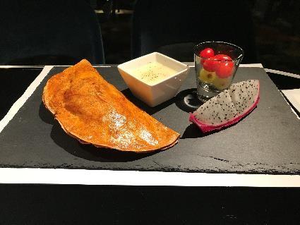 ベジタリアン食:キノコのパイ包み