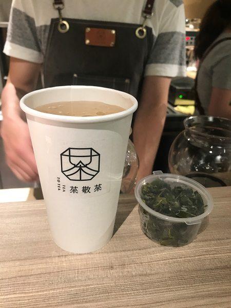 茶敬茶 Tea to tea 杉林溪奶香烏龍 90元(お持ち帰り茶葉付)