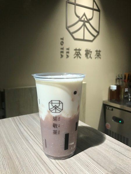 茶敬茶 Tea to tea タロイモミルク(大甲芋頭鮮奶) 70元