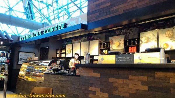 桃園空港第二ターミナル4階のスタバ