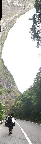台灣島的天空(台湾の形に見える空)