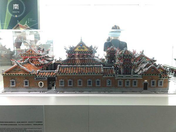 台北101 レゴ展 龍山寺を横から