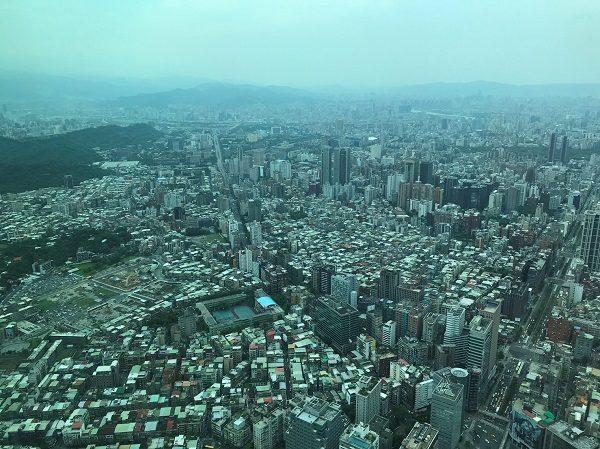 台北101 展望台 台北市内を一望