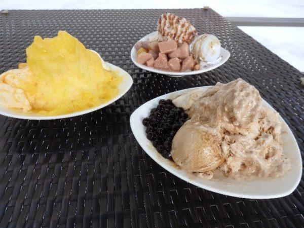 icepapa タピオカチョコアイスかき氷(120元)