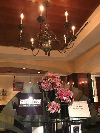 リビエラホテル 地中海牛排館 シャンデリア