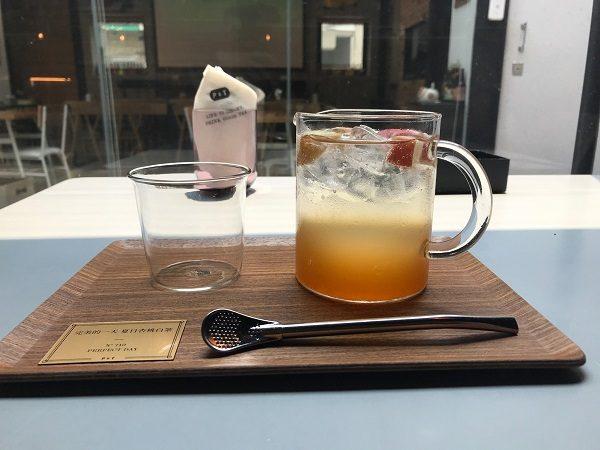 Paper & Tea 柏林選茶 完美的一天 夏日杏桃白茶 附杏桃果醬240元。アイスフルーツティー。