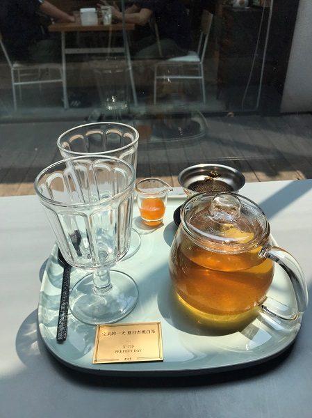 Paper & Tea 柏林選茶 完美的一天 夏日杏桃白茶 附杏桃果醬240元。先ほどのフルーツティーのホット。