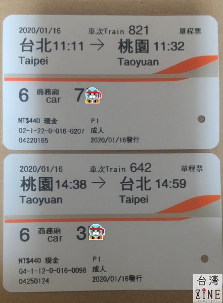 台湾新幹線高鐵 往復チケット