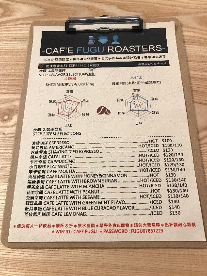 CAFE FUGU Roasters メニュー
