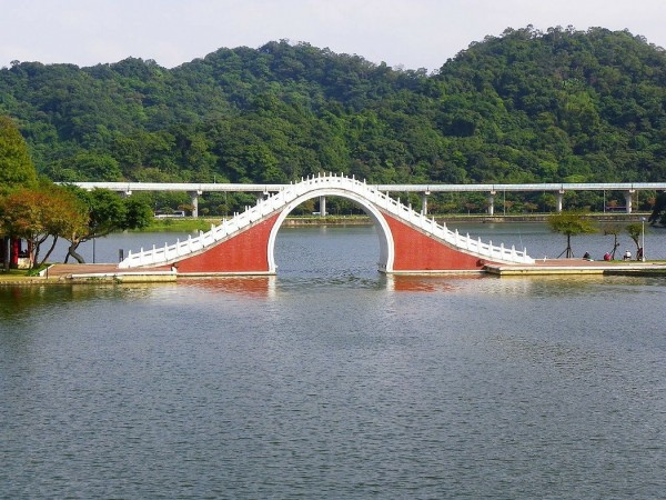 内湖大湖公園にある錦帶橋