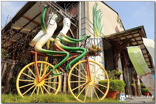 青葱文化館のある宜蘭県三星郷はネギが名産なんです。  ネギのゆるキャラ
