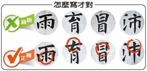 「中国語」の漢字、ちゃんと書けてる?「雨」の点の向きは日本と台湾で違うよ!