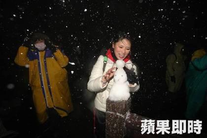 帝王級大寒波襲来!台湾の雪景色をご覧ください陽明山