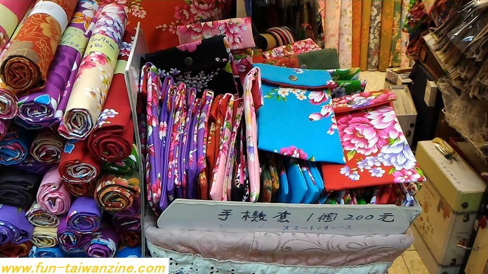 永楽市場で台湾花布を購入。バッグやスマホケースもあるよ!