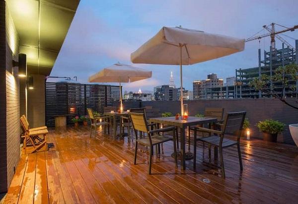シンプルプラスホテル台北(台北馥華商旅敦北館) Simple+Hotel 屋外テラス