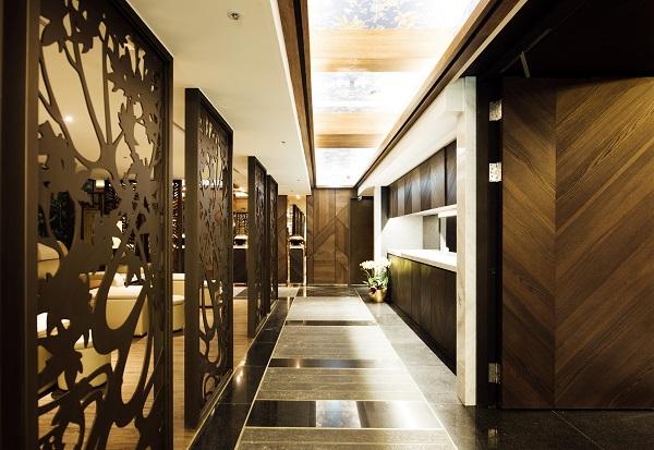森SPA足体養生会館 廊下の内装も素敵